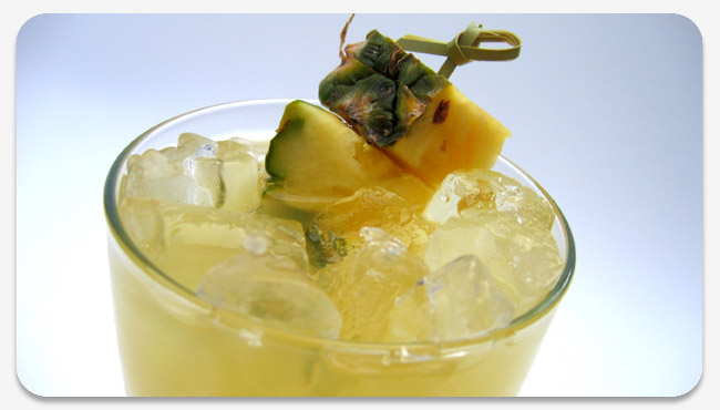 Acapulco with a fun pineapple garnish skewered with a bamboo pick